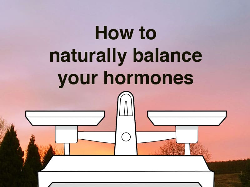 A pair of balance scales against a natural backround to illustrate how to naturally balance hormones